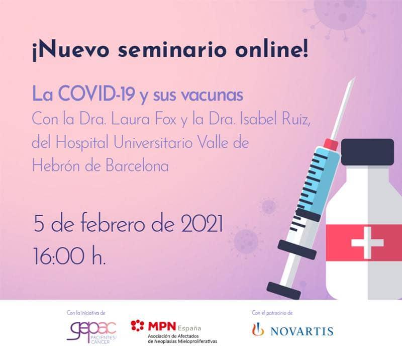Webinar sobre la Covid y sus vacunas